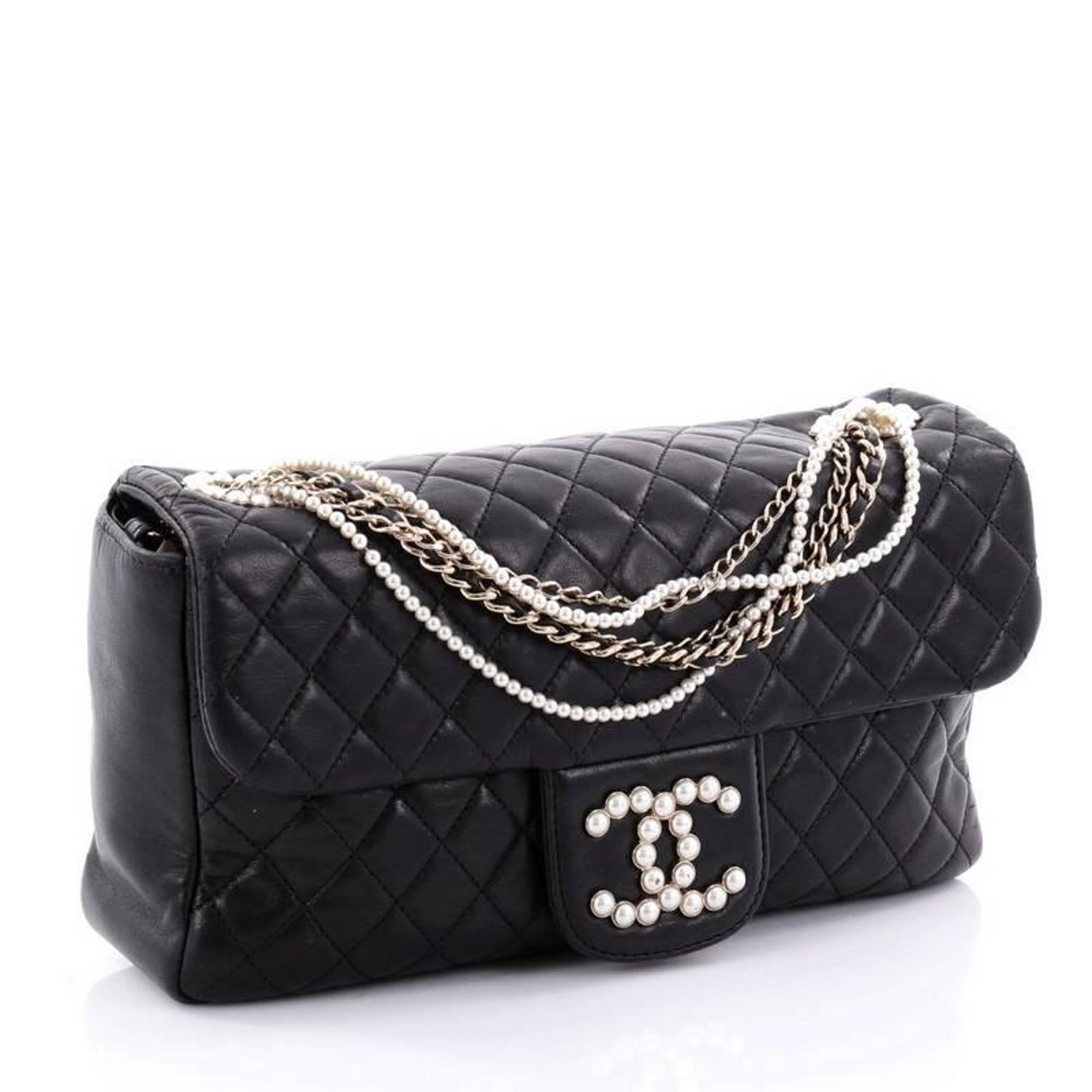 aecd9d1a759c Chanel Westminster Quilted Lambskin Medium Pearl Chain Flap Bag at 1stdibs