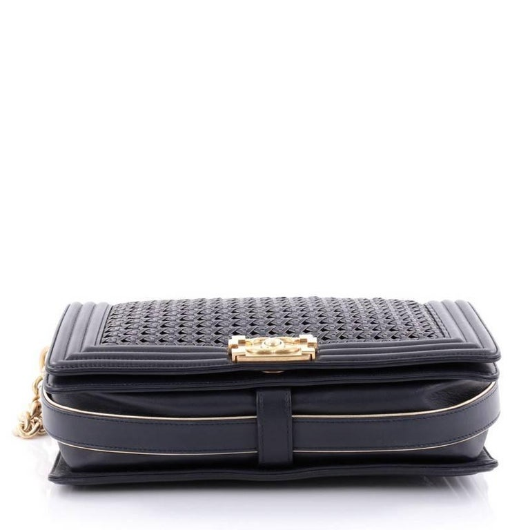 2e434ebcb4b1ba Women's Chanel Boy Flap Bag Braided Sheepskin New Medium For Sale