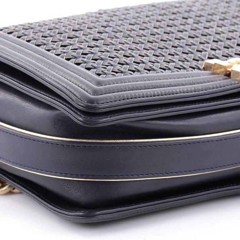 02ae0b0194844f Chanel Boy Flap Bag Braided Sheepskin New Medium For Sale 2