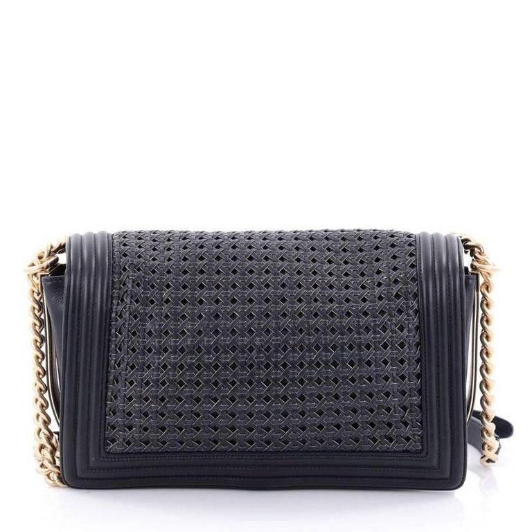 3863a8a80608d0 Chanel Boy Flap Bag Braided Sheepskin New Medium In Good Condition For Sale  In New York