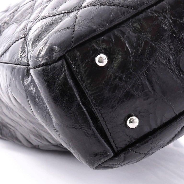 Chanel Portobello Tote Quilted Glazed Calfskin Medium at 1stdibs