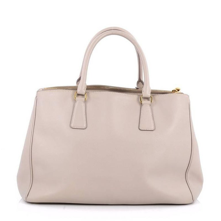 6cf35832db Prada Double Zip Lux Tote Saffiano Leather Medium In Good Condition For Sale  In New York