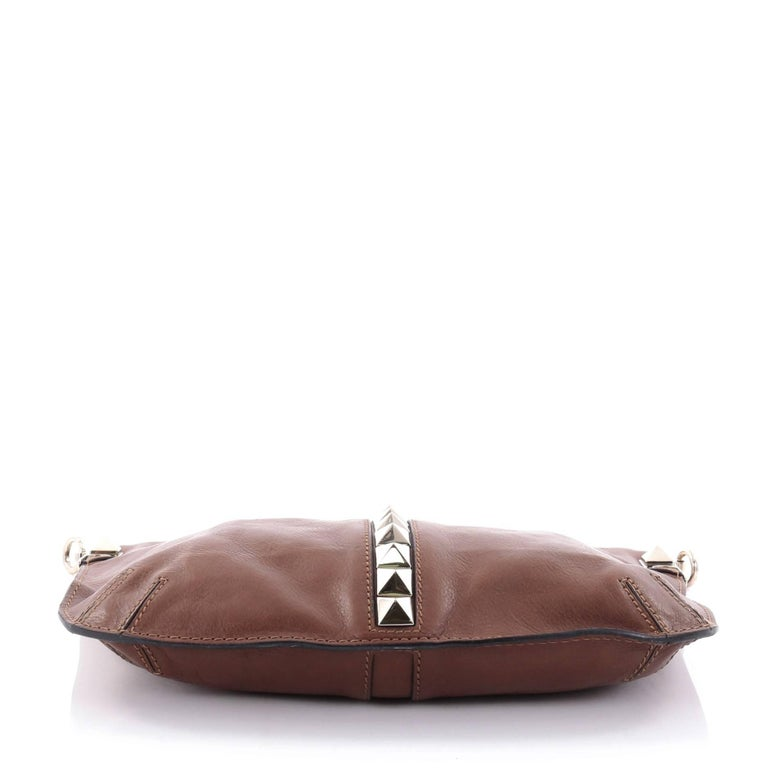 Women's or Men's Valentino Glam Lock Convertible Medium Shoulder Bag Leather  For Sale