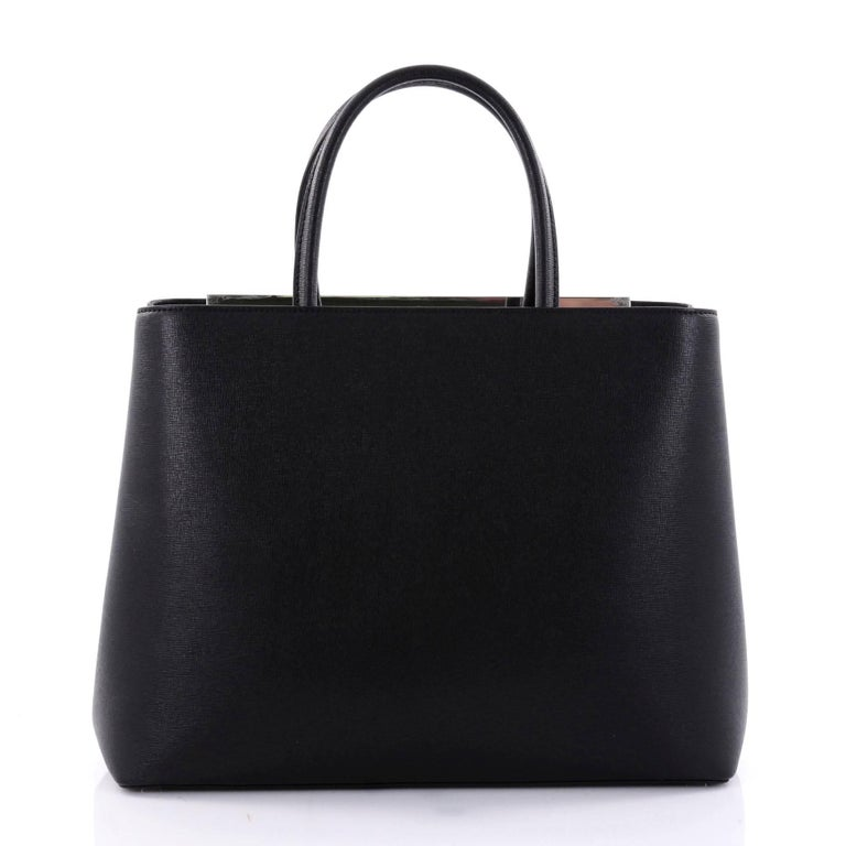 272f7adf987 Fendi 2Jours Monster Handbag Leather Medium In Good Condition For Sale In New  York, NY
