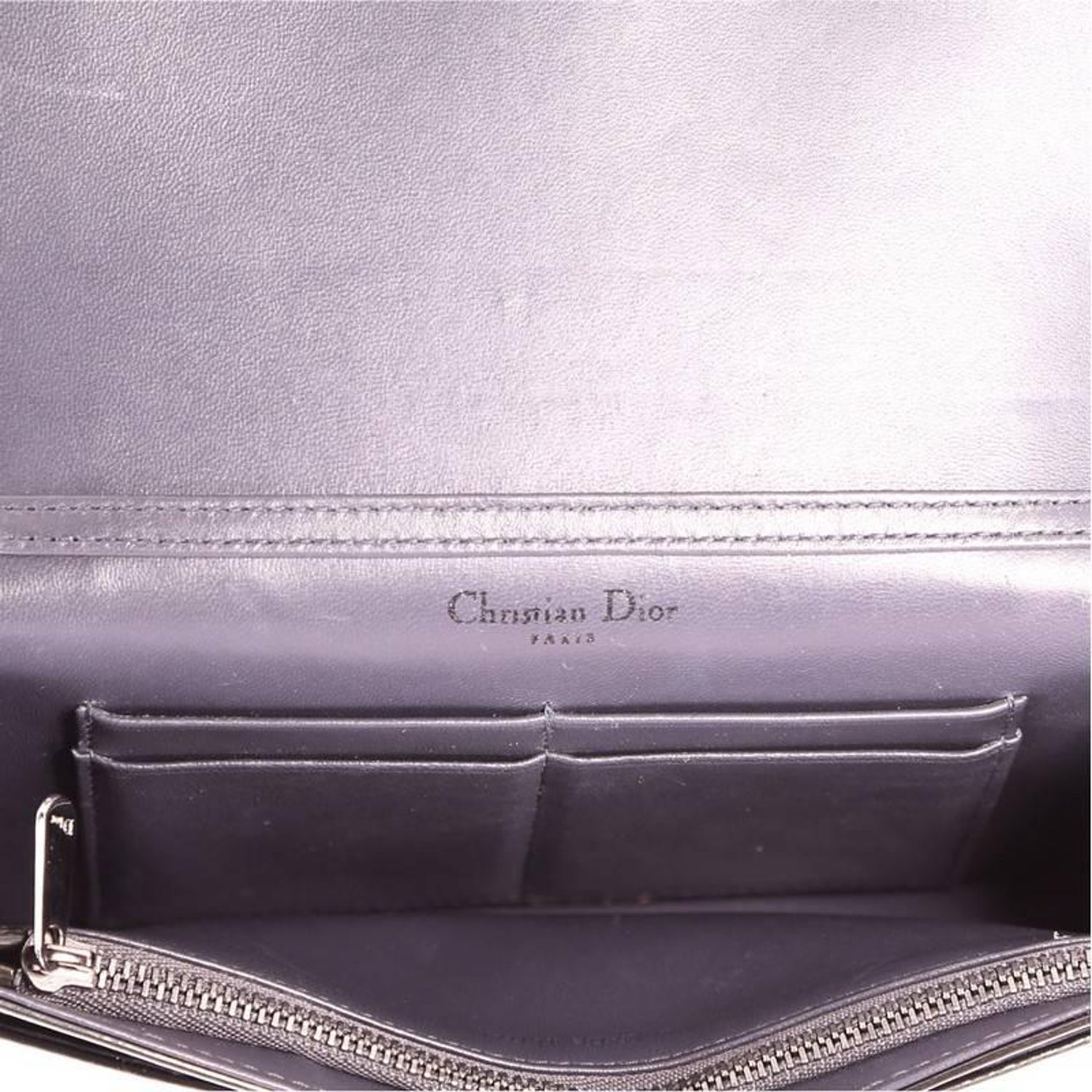 e2a67f8e4be Christian Dior Diorama Wallet on Chain Cannage Embossed Calfskin at 1stdibs
