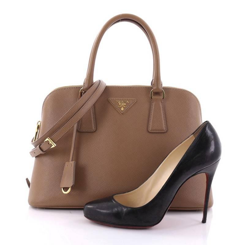 89f86658d7c7 ... wholesale prada bn2789 leather top handle bag in black prada promenade  handbag saffiano leather medium at