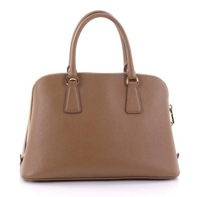 Prada Promenade Handbag Saffiano Leather Medium In Good Condition For Sale In New York, NY
