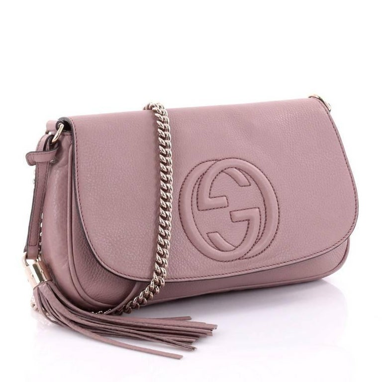 8f747e52f82fbe Brown Gucci Soho Chain Crossbody Bag Leather Medium For Sale