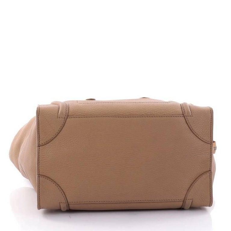 Women's or Men's Celine Luggage Handbag Grainy Leather Mini For Sale