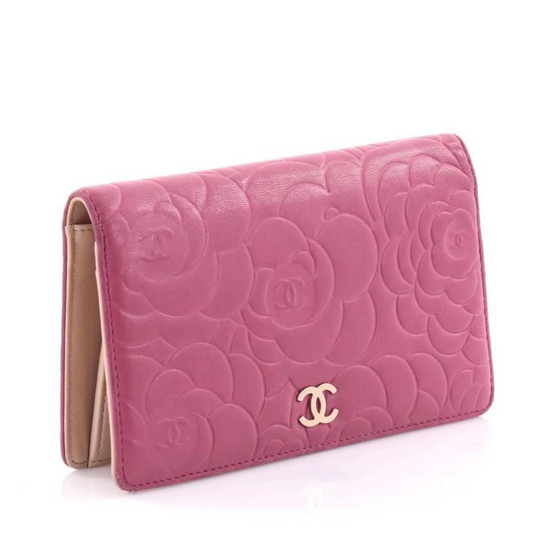 974ccb7b9306 Chanel Bi-Fold Wallet Camellia Lambskin Long at 1stdibs