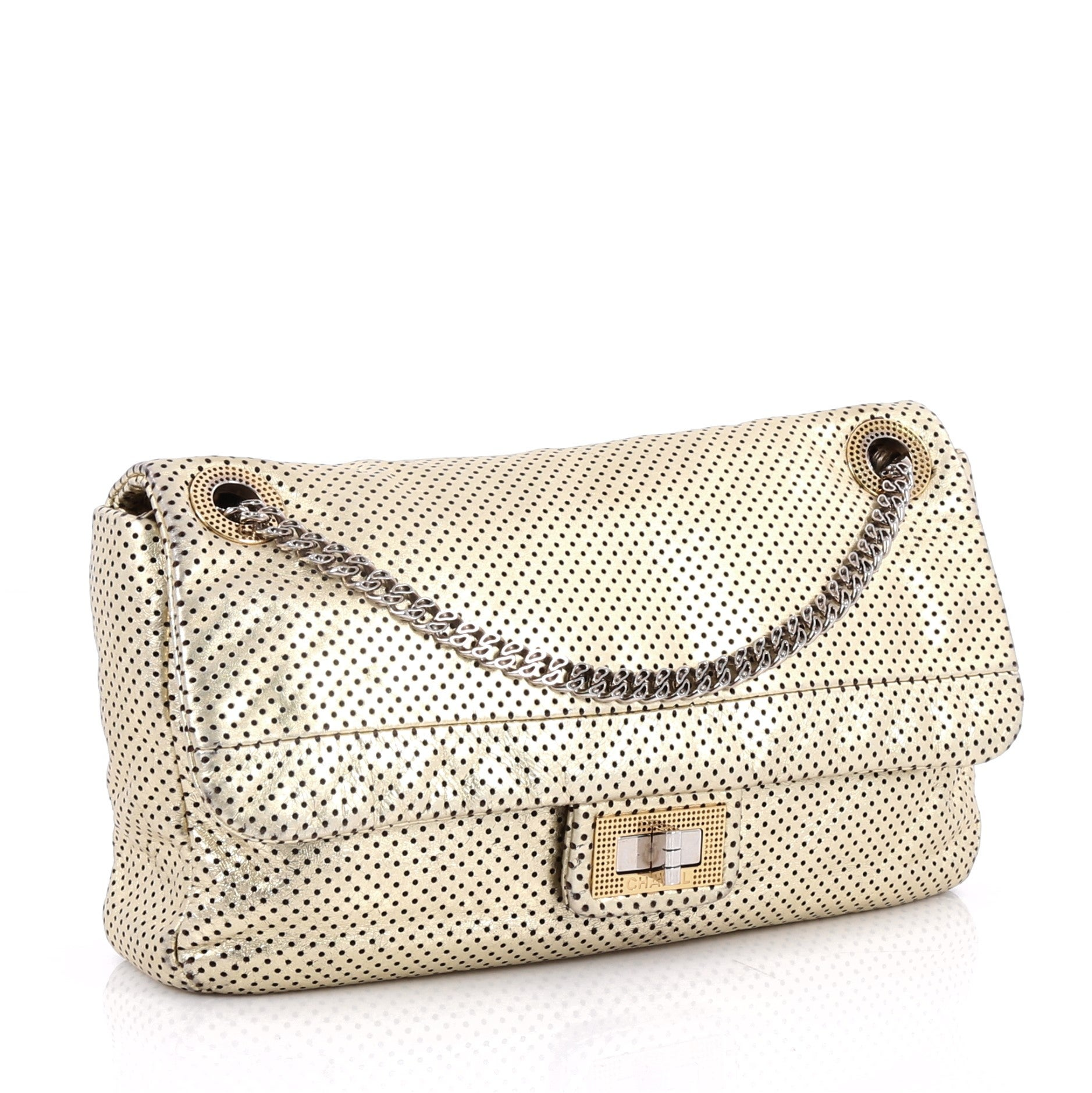 62cce82c57b974 Chanel Drill Flap Bag Perforated Leather Medium at 1stdibs