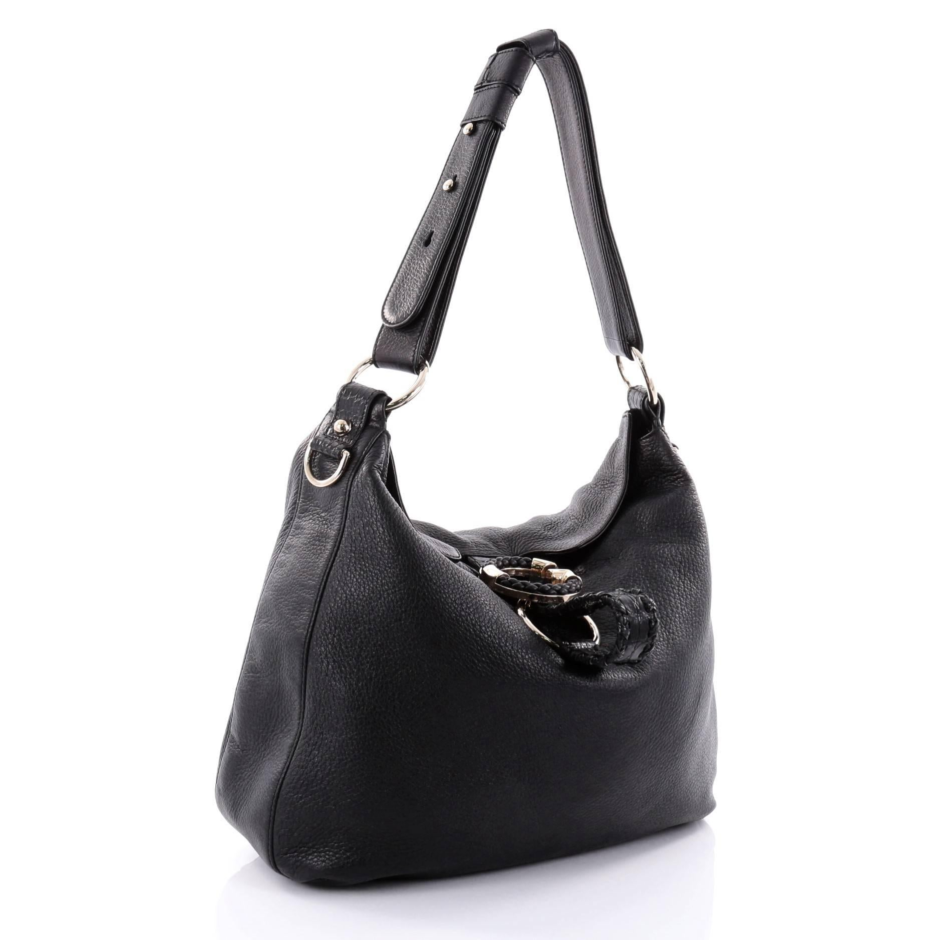 ae72a06586b Gucci G Wave Hobo Leather Medium at 1stdibs