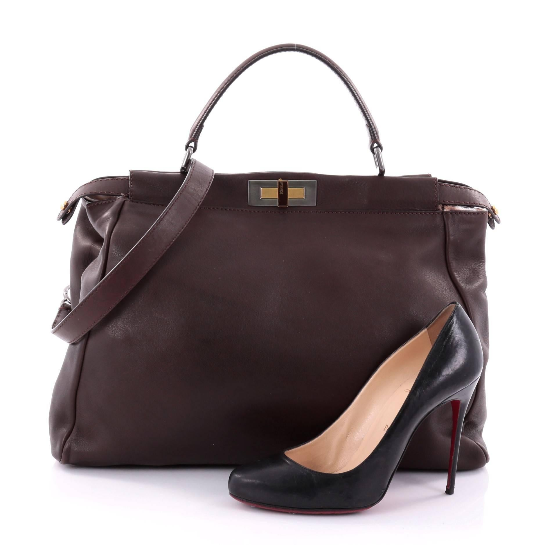 238e5f3f6e ... order this authentic fendi peekaboo handbag leather large is one of  fendis best known designs exuding coupon for fendi zucca large bag de jour  ...