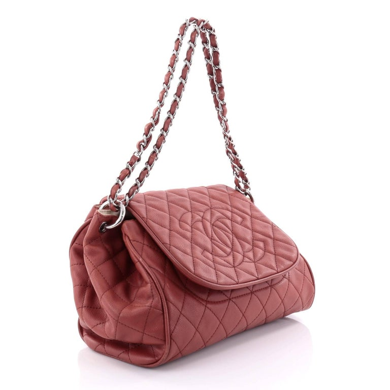 eb0125148ced Brown Chanel Timeless Accordion Flap Bag Quilted Caviar For Sale