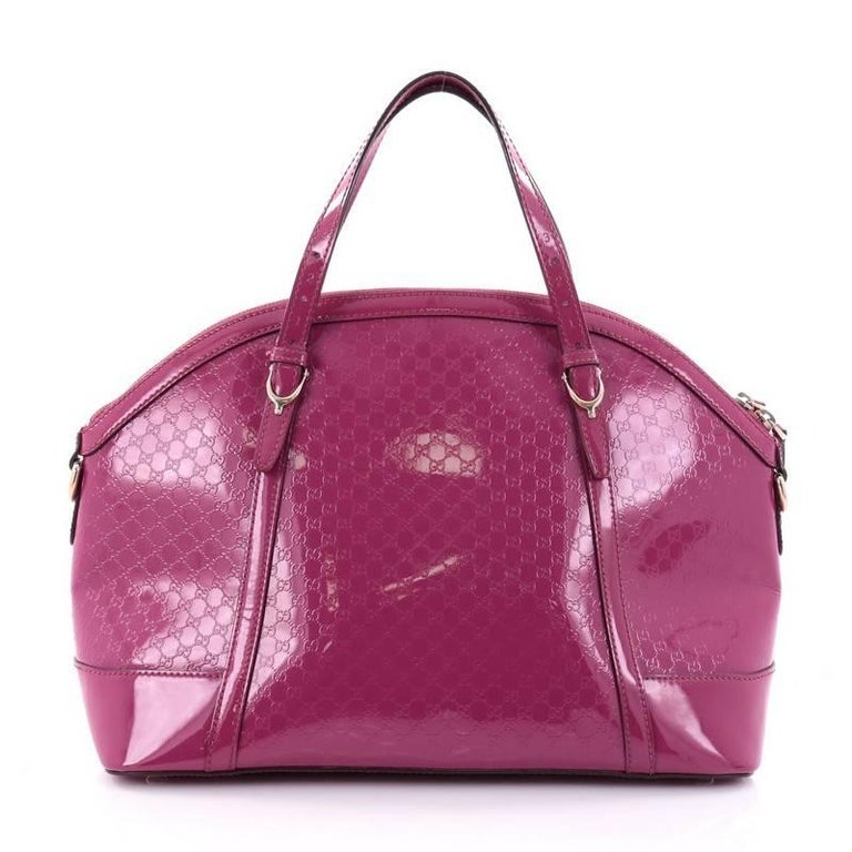 856b5642e46 Gucci Nice Top Handle Bag Patent Microguccissima Leather Medium In Good  Condition For Sale In New