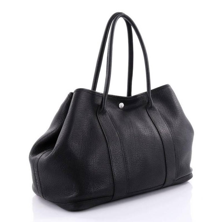 Black Hermes Garden Party Tote Leather 36 For