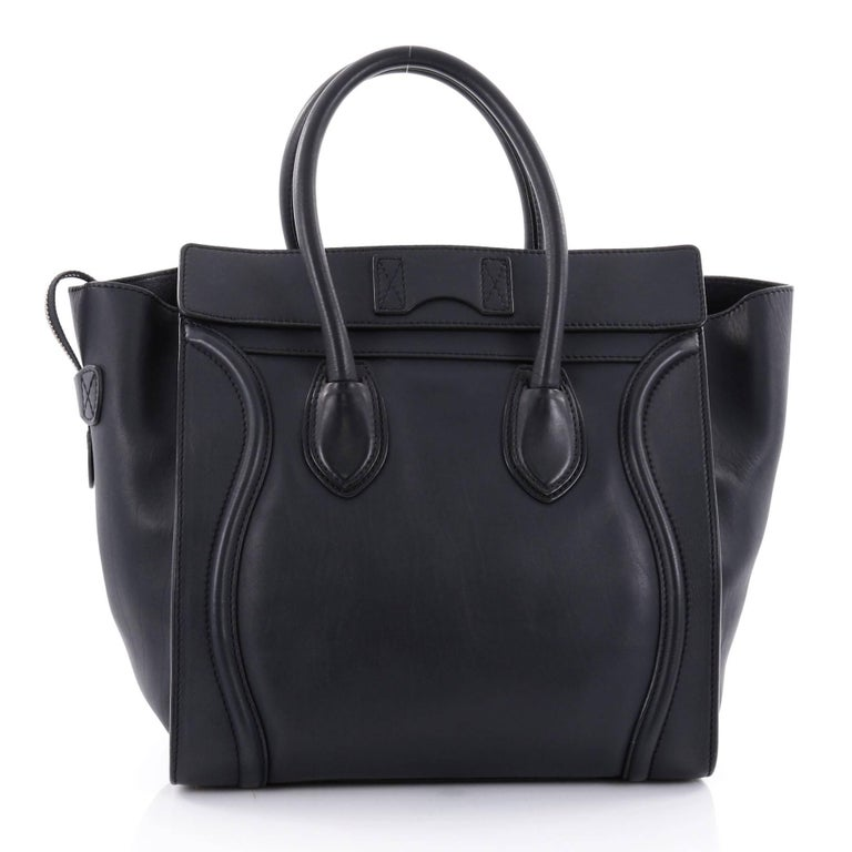 Celine Luggage Handbag Smooth Leather Mini In Good Condition For New York Ny