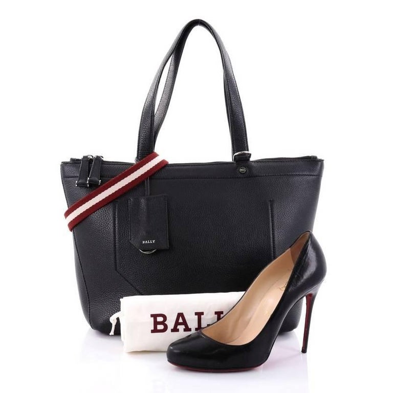 Bally Convertible Tote Leather Medium At 1stdibs