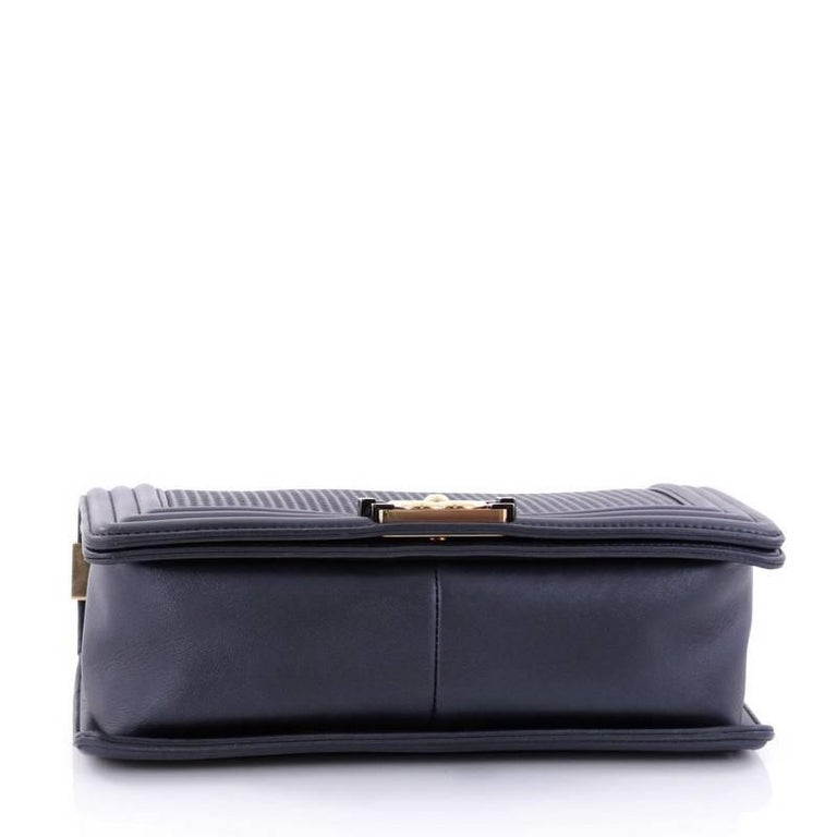 8f89f87809bf Chanel Boy Flap Bag Cube Embossed Lambskin New Medium at 1stdibs