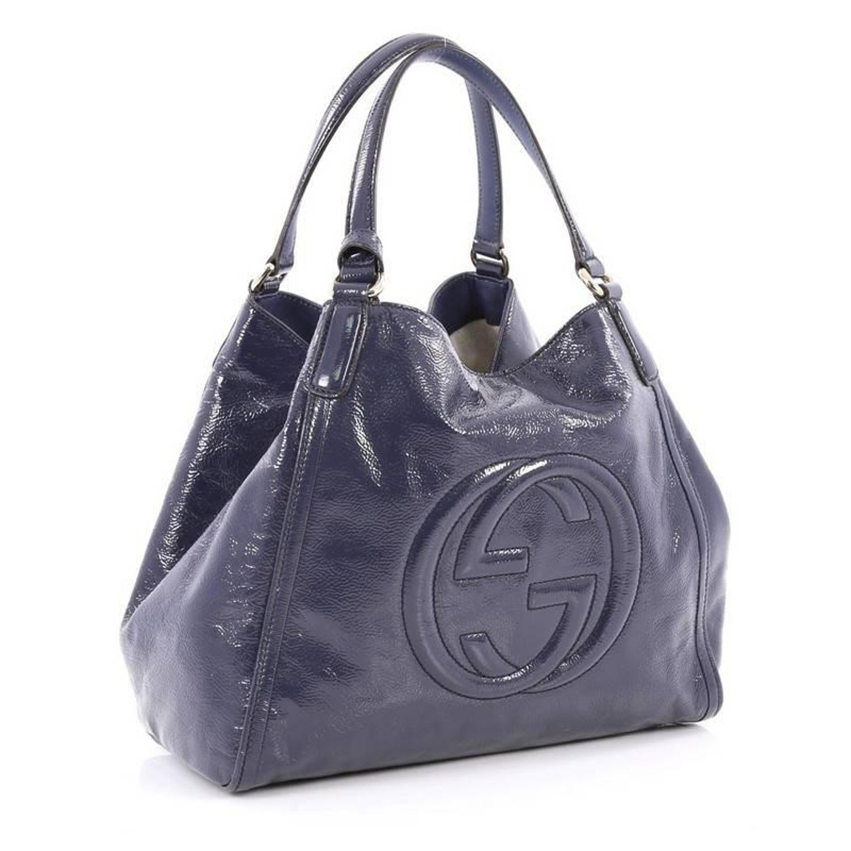 befc1d3fed687a Gucci Soho Shoulder Bag Patent Medium at 1stdibs
