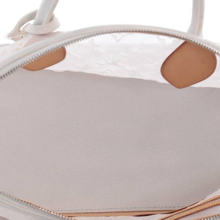 Louis Vuitton Transparence Lockit Handbag Mesh and Leather  For Sale 3