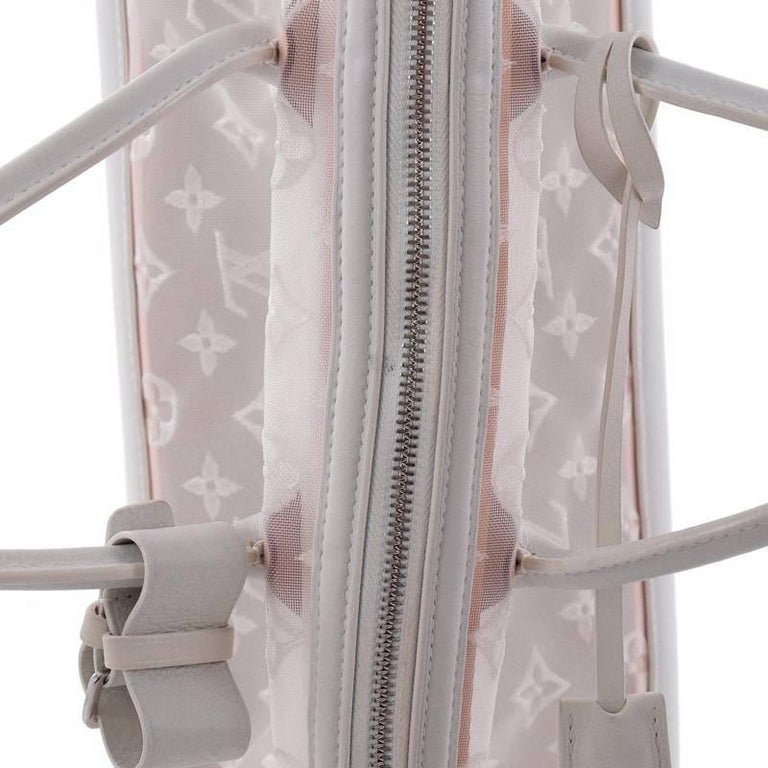 Louis Vuitton Transparence Lockit Handbag Mesh and Leather  For Sale 2