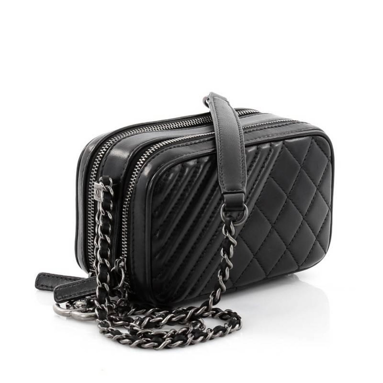 c11f3a3b881d Chanel Coco Boy Camera Bag Quilted Leather Mini at 1stdibs