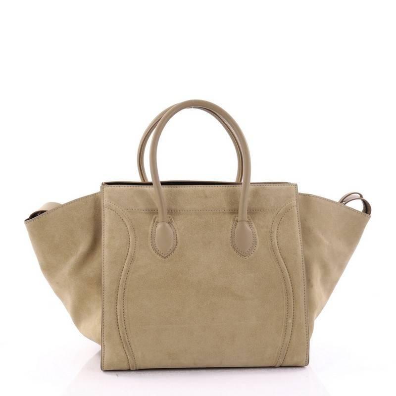 b0a80b37ba Celine phantom handbag suede medium at stdibs jpg 1500x1500 Suede celine bag