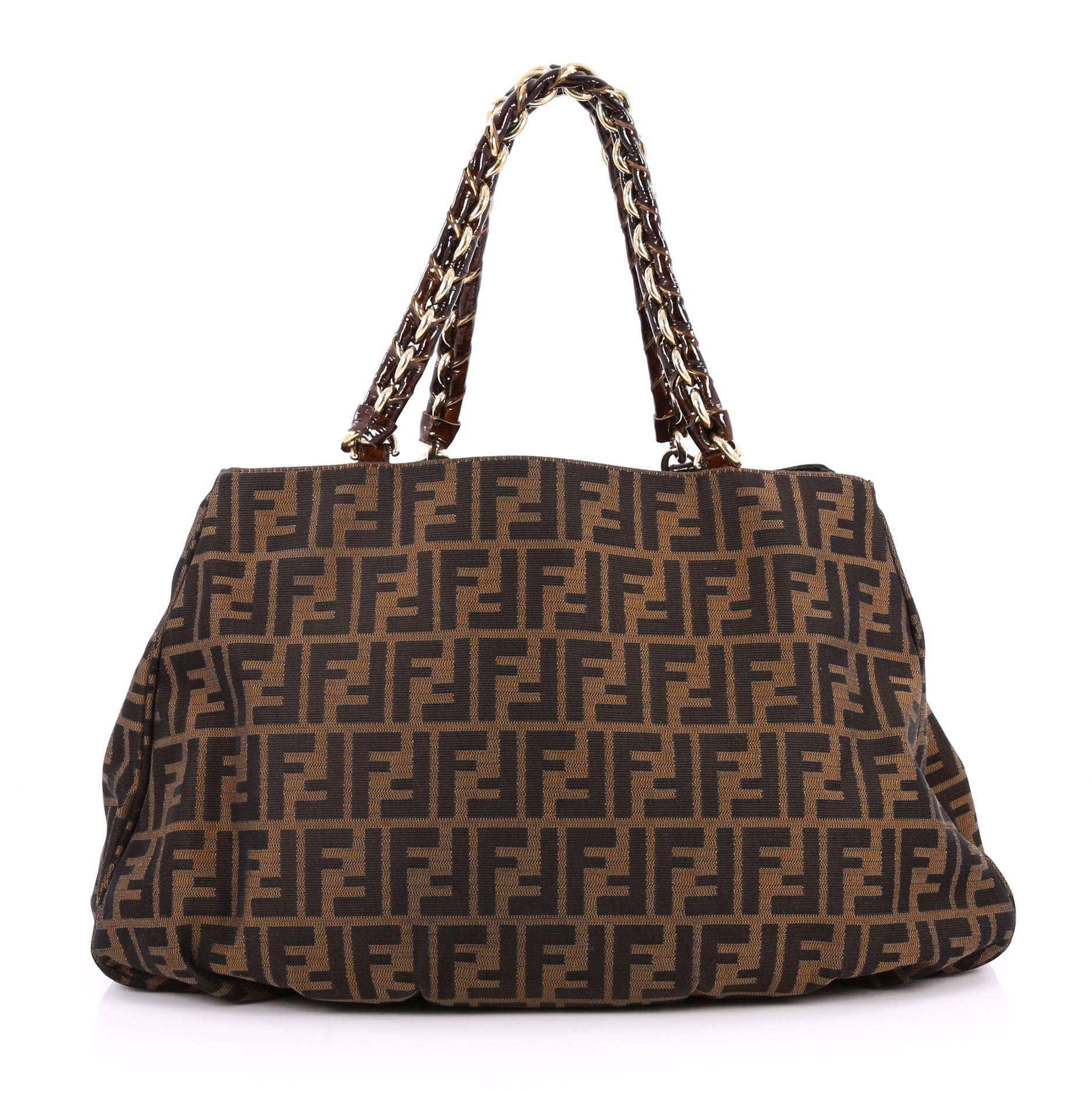 34b17302eb ... low cost fendi mia tote zucca canvas large in good condition for sale  in new york ...