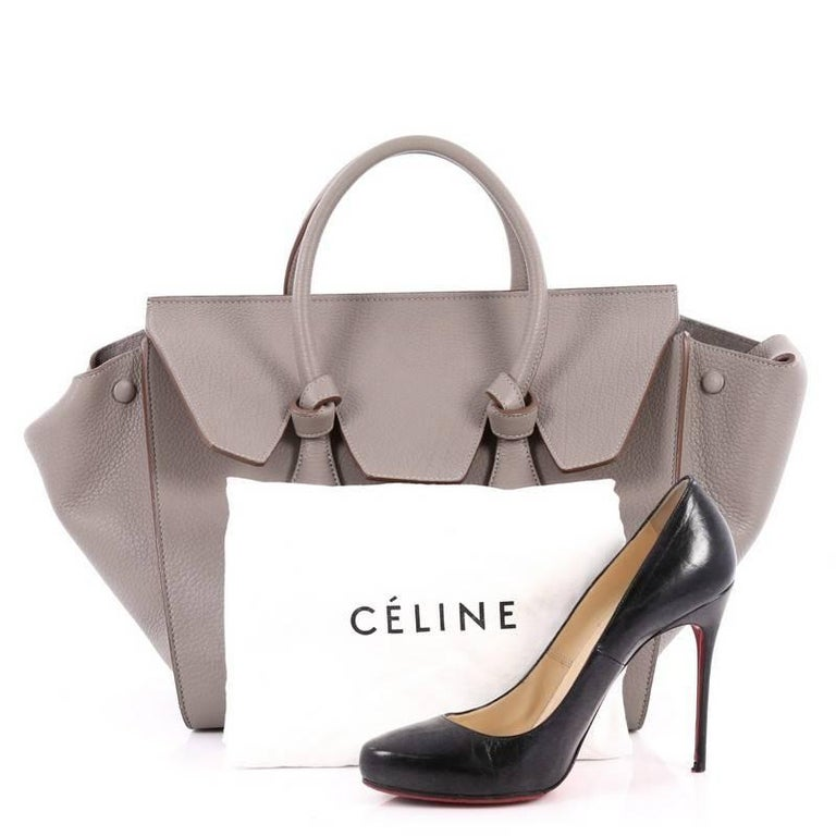 Celine Tie Knot Tote Grainy Leather Small At 1stdibs