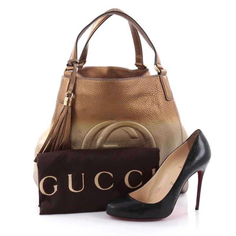 e22785d3d89 Gucci Soho Shoulder Bag Leather Medium at 1stdibs