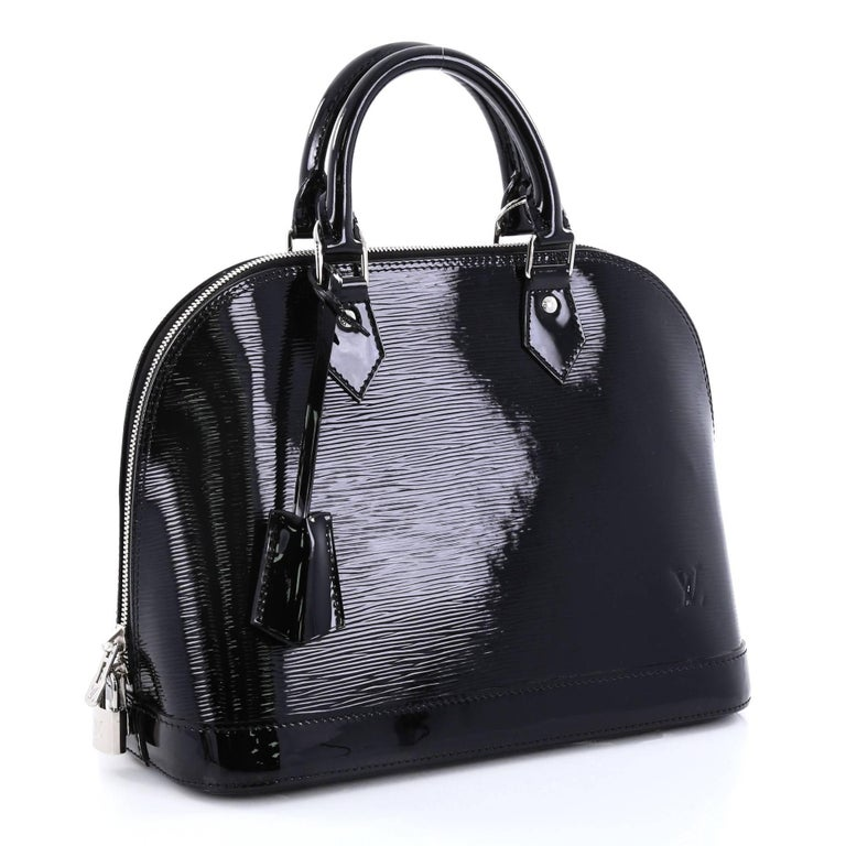 684ec80e9e67 Black Louis Vuitton Alma Handbag Electric Epi Leather PM For Sale