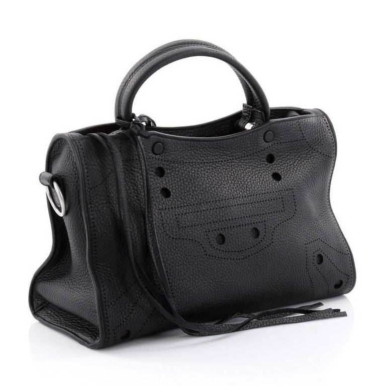 64fd99bd4c8b Balenciaga Blackout City AJ Handbag Leather Small In Good Condition For Sale  In New York