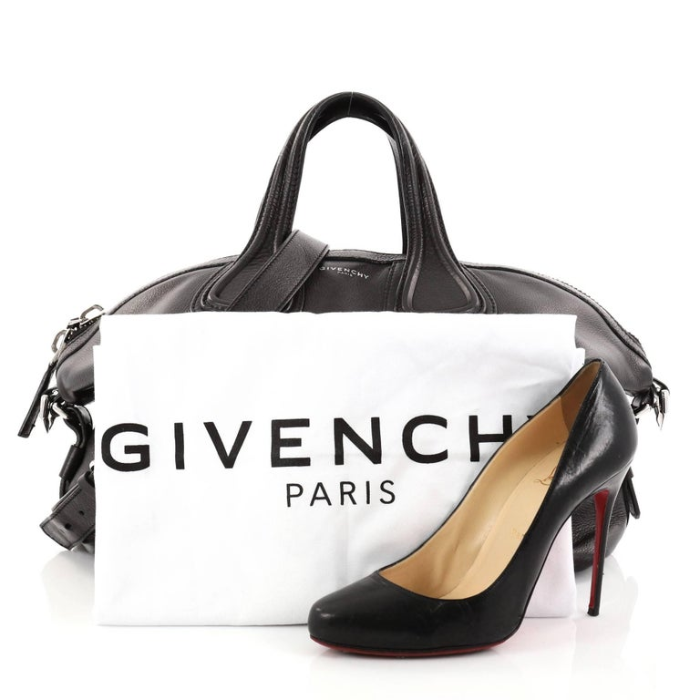 cd31554d81ce This authentic Givenchy Nightingale Satchel Waxed Leather Medium is a luxurious  yet casual accessory perfect for