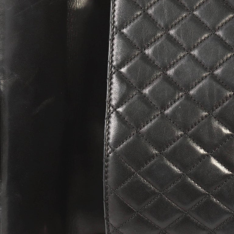 Chanel Westminster Pearl Chain Flap Bag Quilted Lambskin Medium For Sale 3