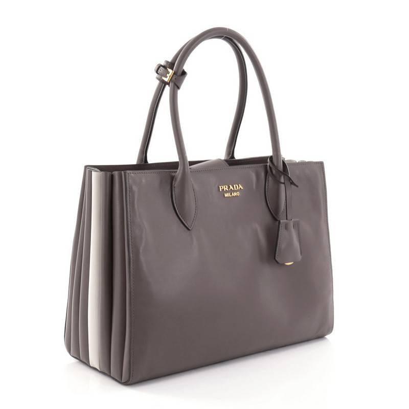c1c5d677f8c0 ... bags leather lining 99f6c f7569  spain black prada soft bibliotheque  handbag city calfskin medium for sale 95cf6 bf5e9