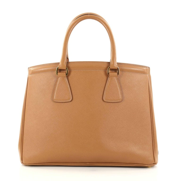 1401d18ea924 Prada Parabole Handbag Saffiano Leather Medium In Good Condition For Sale  In New York, NY