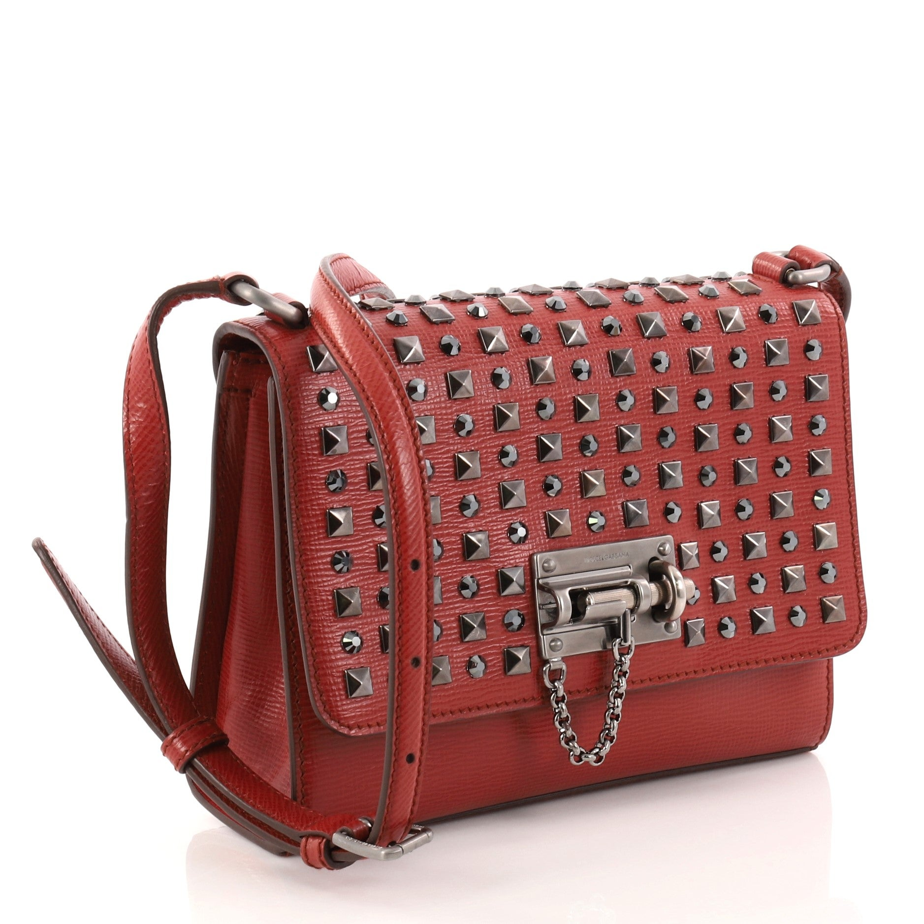 Dolce and Gabbana Monica Studded Leather Small Crossbody Bag at 1stdibs 2ed8f10238
