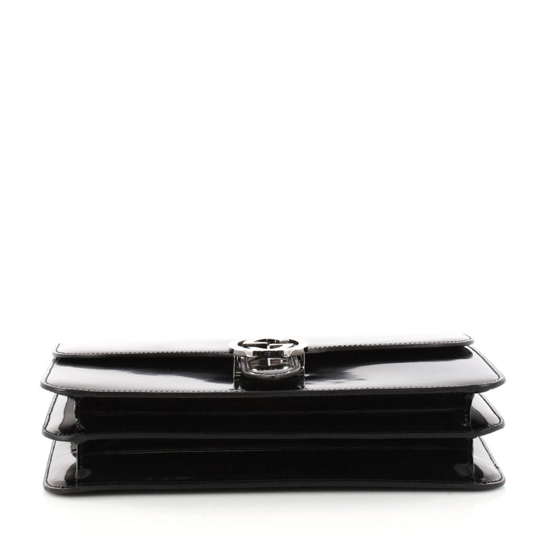6bb3c258e Women's Gucci Interlocking Shoulder Bag Patent Medium For Sale