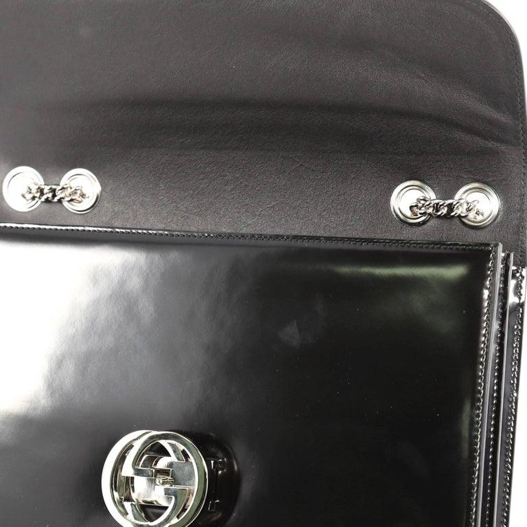 ac179b298 Gucci Interlocking Shoulder Bag Patent Medium For Sale 2