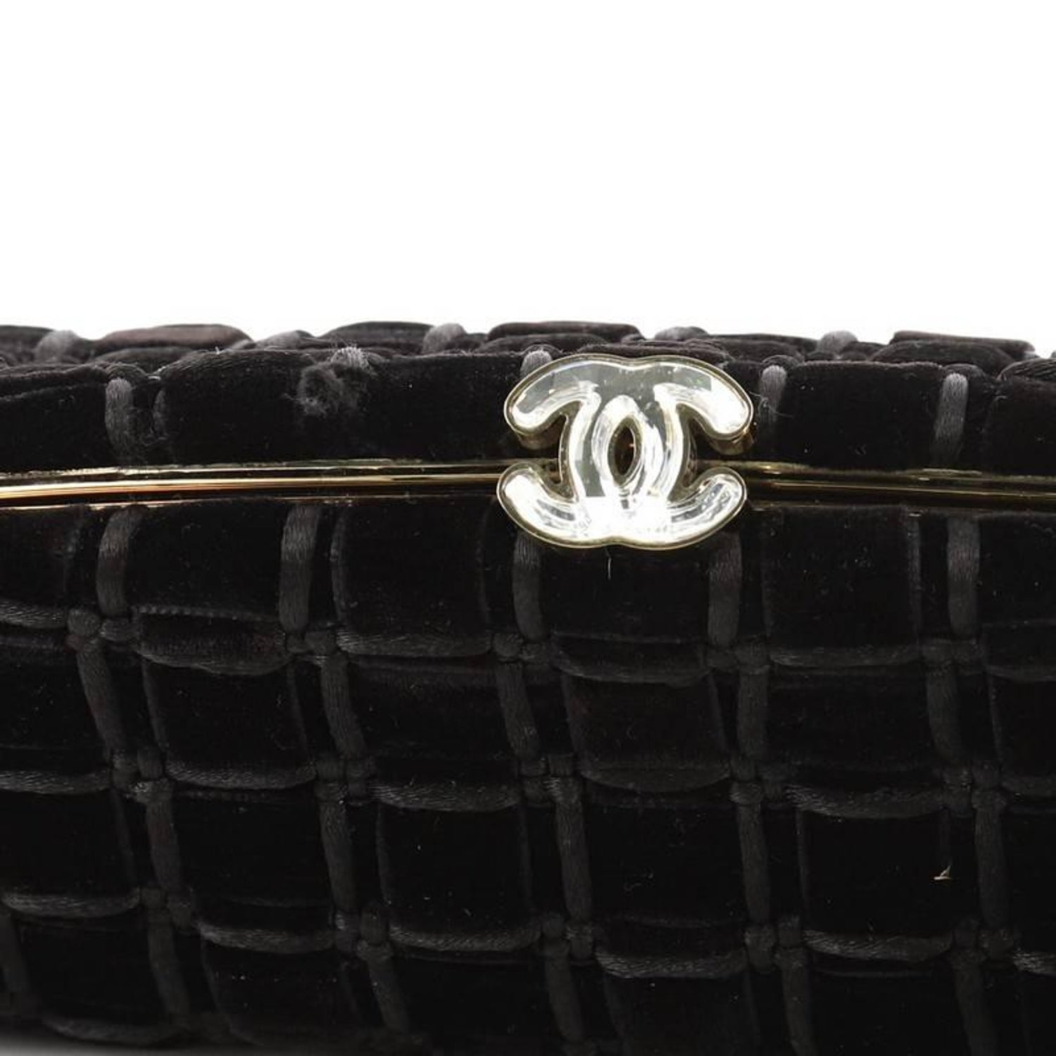 795c9e8659e6 Chanel Timeless Clutch Velvet with Woven Leather at 1stdibs