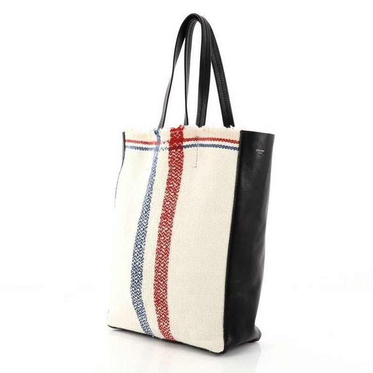 a50eecc88e Celine Cabas Tote Woven Cotton In Good Condition For Sale In New York