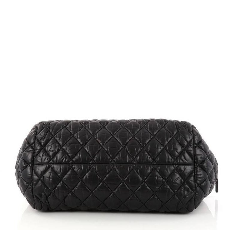d047a7f262c6 Women's Chanel Coco Cocoon Bowling Bag Quilted Nylon For Sale
