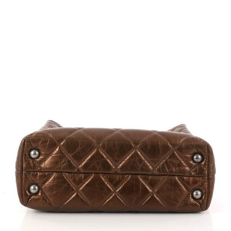 Women's Chanel Reissue Quilted Aged Calfskin Tall Tote  For Sale