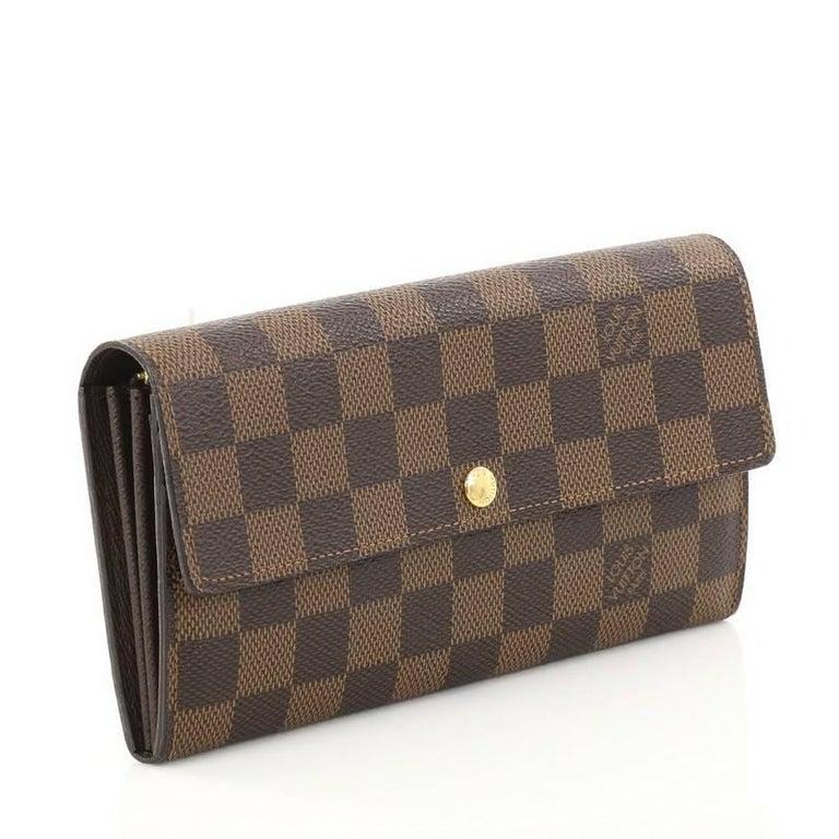 b6168bb6ef8 Black Louis Vuitton Sarah Wallet Damier For Sale