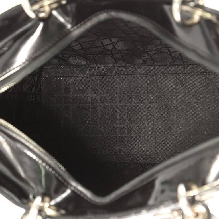 0441b6db27c7 Christian Dior Lady Dior Handbag Cannage Quilt Patent Large at 1stdibs
