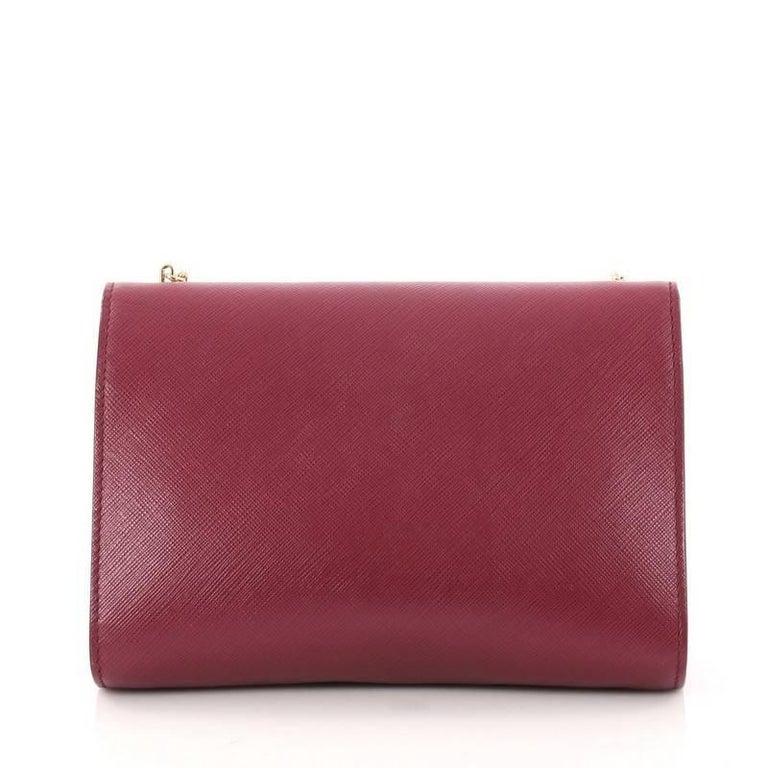 9300bd8527a7 Salvatore Ferragamo Ginny Crossbody Bag Saffiano Leather Small In Good  Condition For Sale In New York