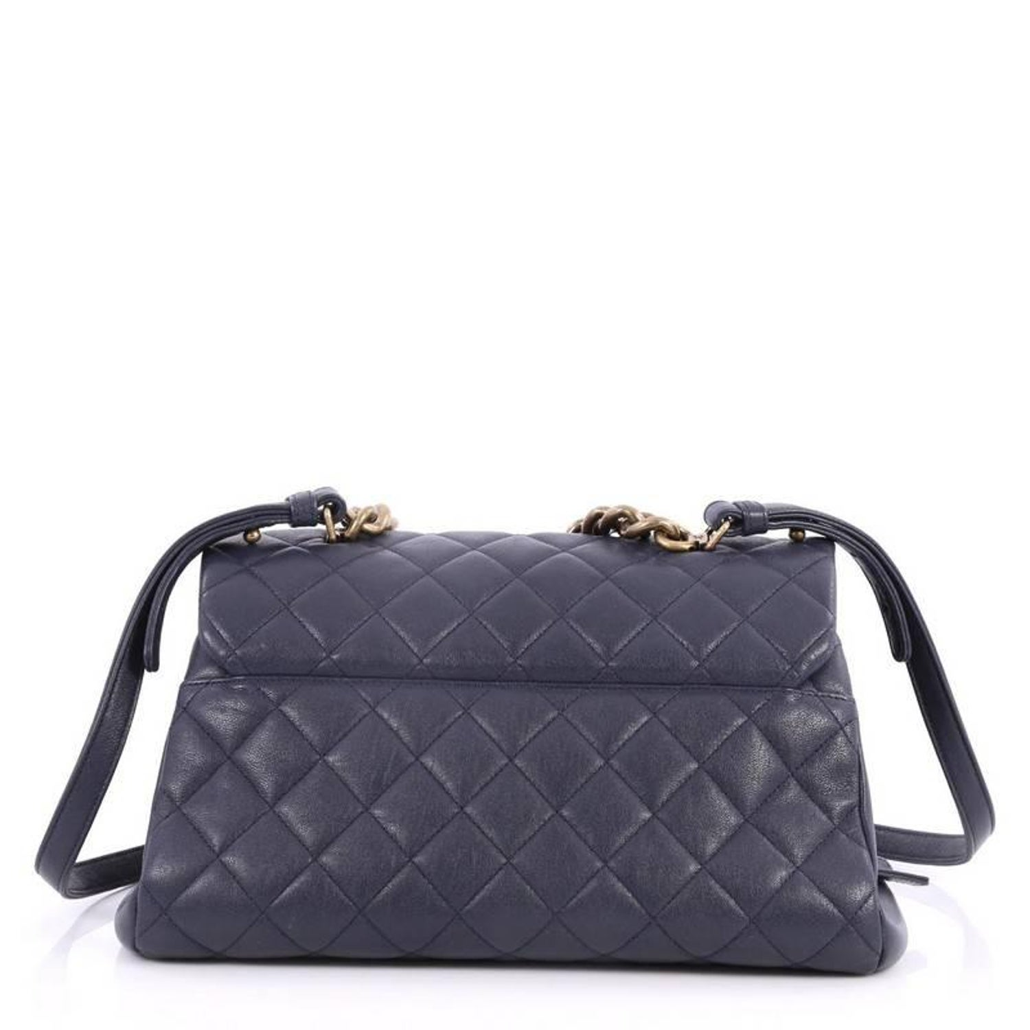 fba19be9a4d0 Chanel Trapezio Crossbody Bag Quilted Sheepskin Large at 1stdibs