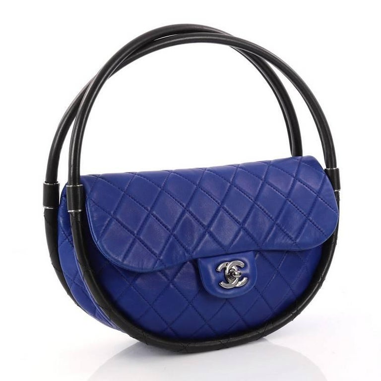 6b714a8a7b8c Purple Chanel Hula Hoop Bag Quilted Lambskin Small For Sale
