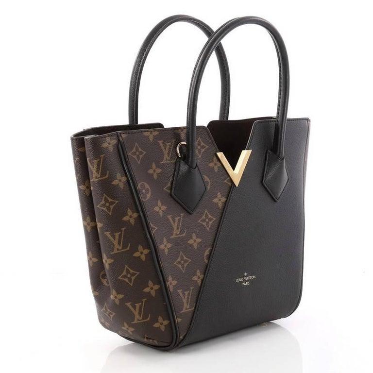 Black Louis Vuitton Kimono Handbag Monogram Canvas And Leather PM For Sale